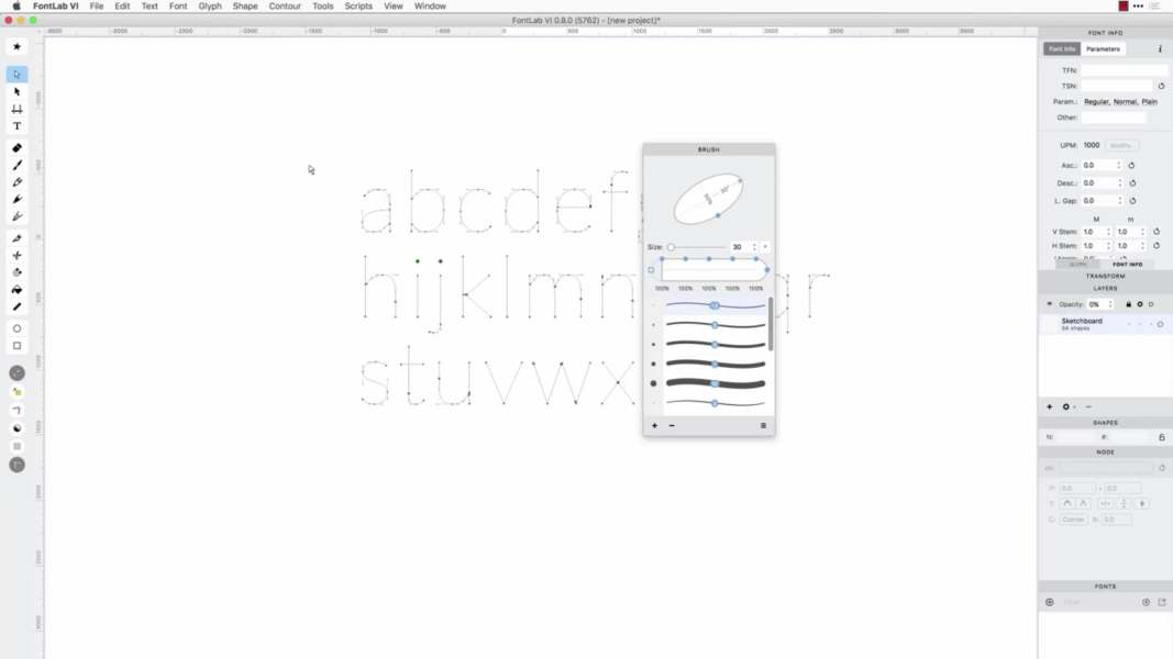字体制作 超粗字体编辑器 FontLab 7.0.2.7334