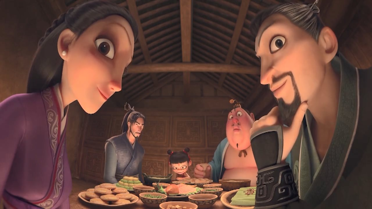 《哪吒》《姜子牙》同框 饺子监制蒙牛广告片公开