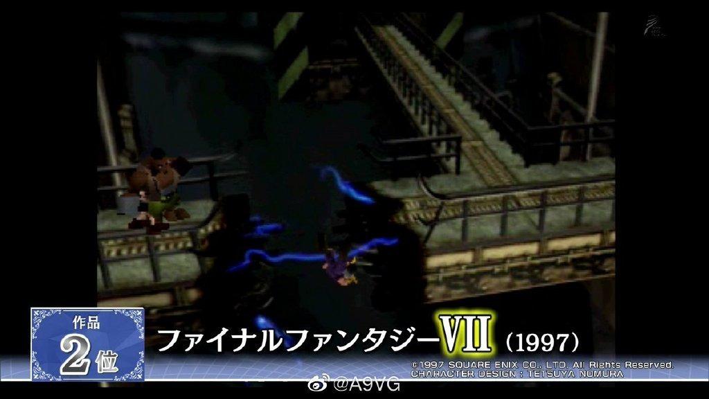 """""""全最终幻想系列大投票""""公布结果《最终幻想10》最受欢迎"""