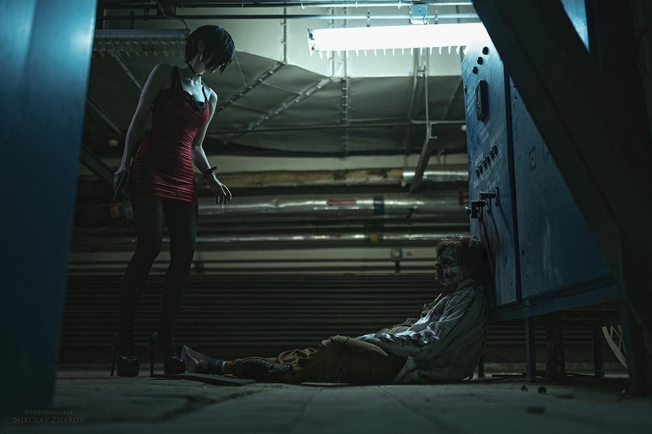俄罗斯美女Mightyraccoon Cos《生化2重制版》 艾达王惨被丧尸推倒