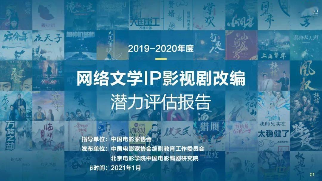 2019-2020年度网络文学IP影视剧改编潜力评估报告发布