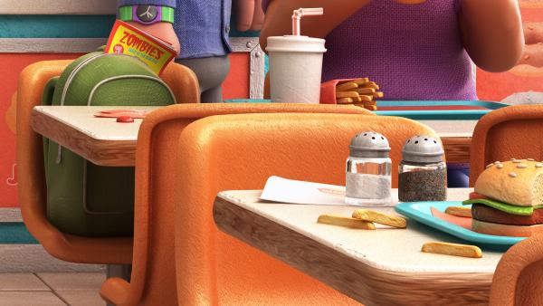 动画角色设计插图-快乐的食物