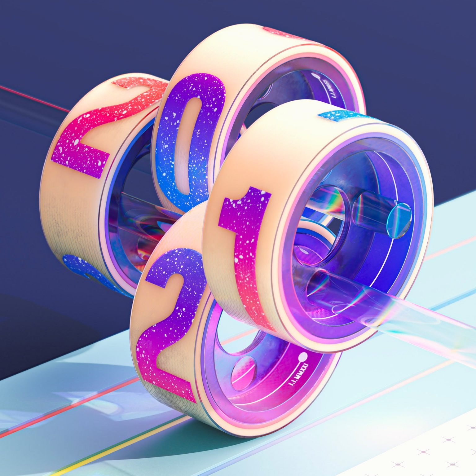 Wes Cockx抽象3D艺术作品